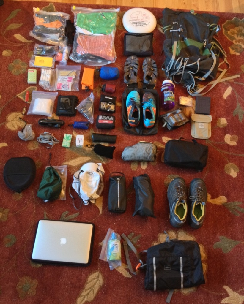The final assortment of gear before being placed in my pack!