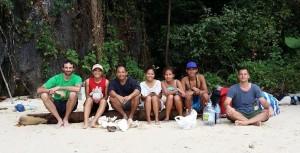 Couchsurfing friends on Lagen Island