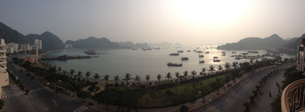 View from our hotel in Cat Ba, Vietnam