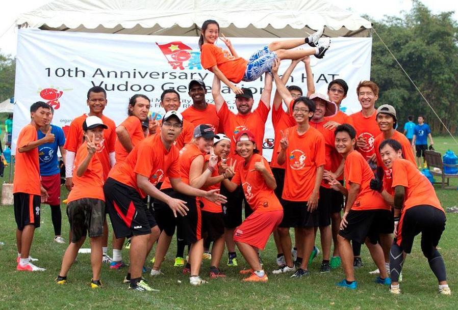 """Lisa's team """"Orange Crush"""" -- winners of the B bracket!"""