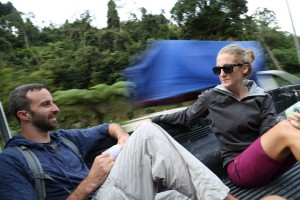 My first hitch. Cara from Vermont, a friend we met in Vietnam last month, has been traveling with us for a couple weeks.