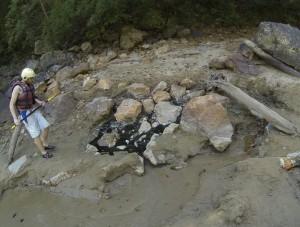 Natural hot springs along Pai River