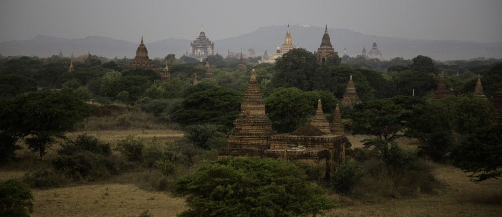 a tiny sample of all the temples and stupas across the plain of Bagan