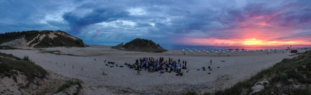 A gorgeous sunset at closing ceremonies for this four-day tournament (and six-night party)